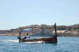 Typical Maltese boat in Senglea