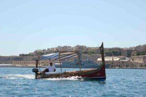 Typical Maltese boat in Senglea