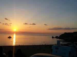 sunset golden bay